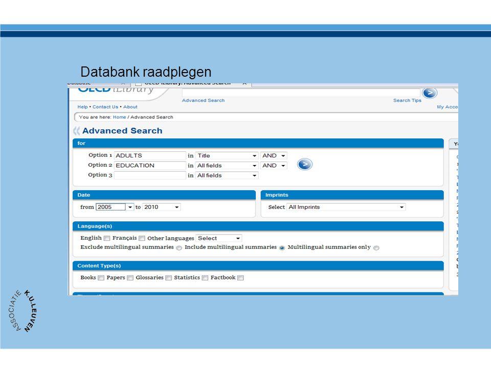 Databank raadplegen