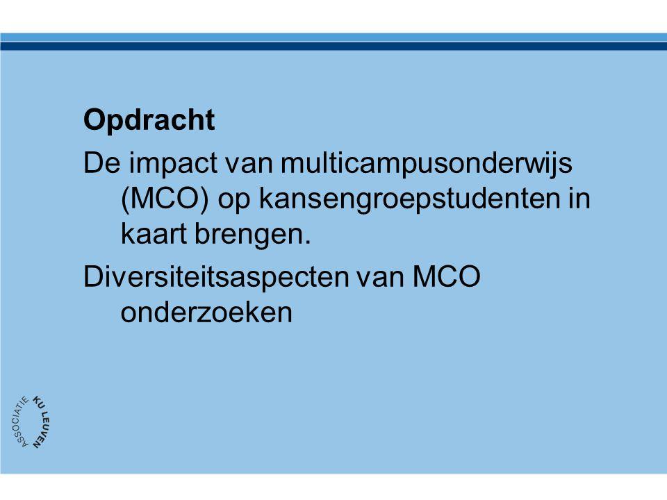 Opdracht De impact van multicampusonderwijs (MCO) op kansengroepstudenten in kaart brengen.
