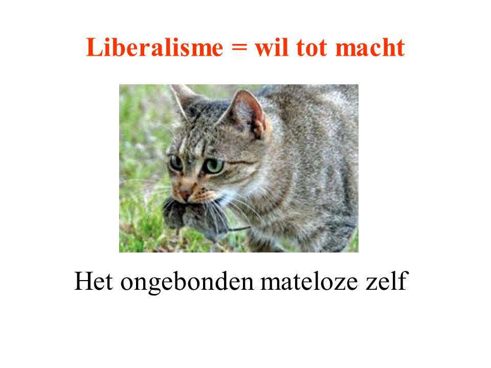 Liberalisme = wil tot macht Het ongebonden mateloze zelf