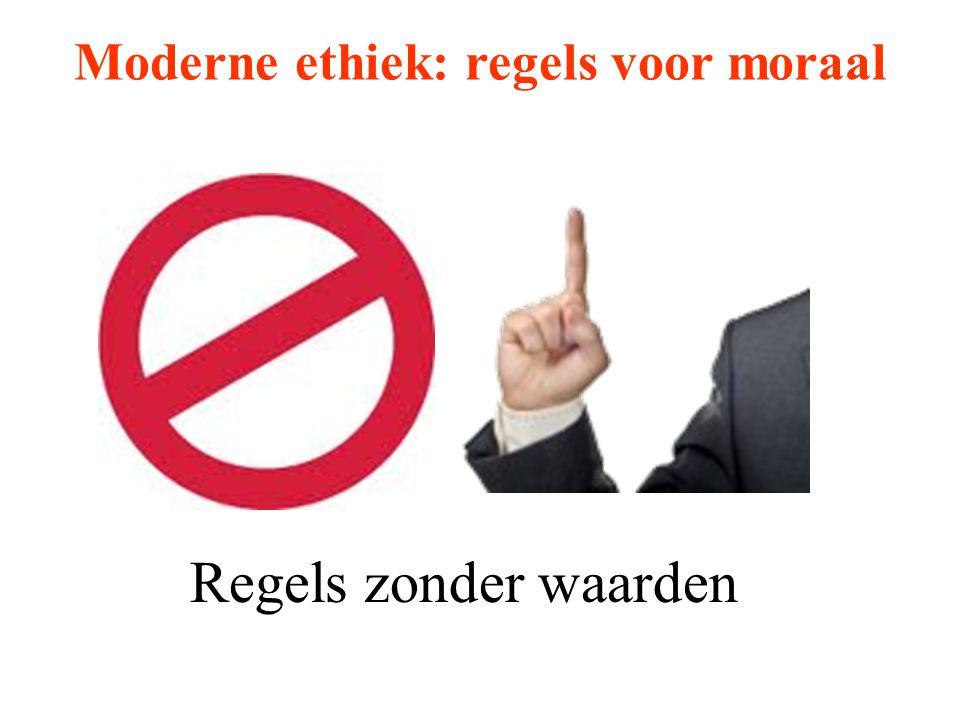Moderne ethiek: regels voor moraal Regels zonder waarden