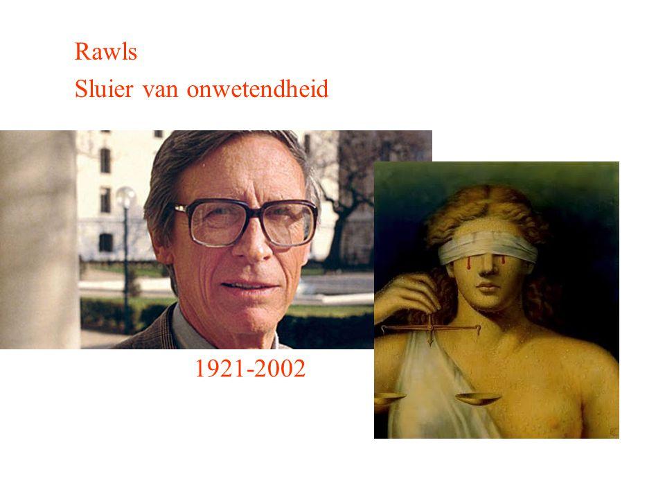 Rawls Sluier van onwetendheid 1921-2002