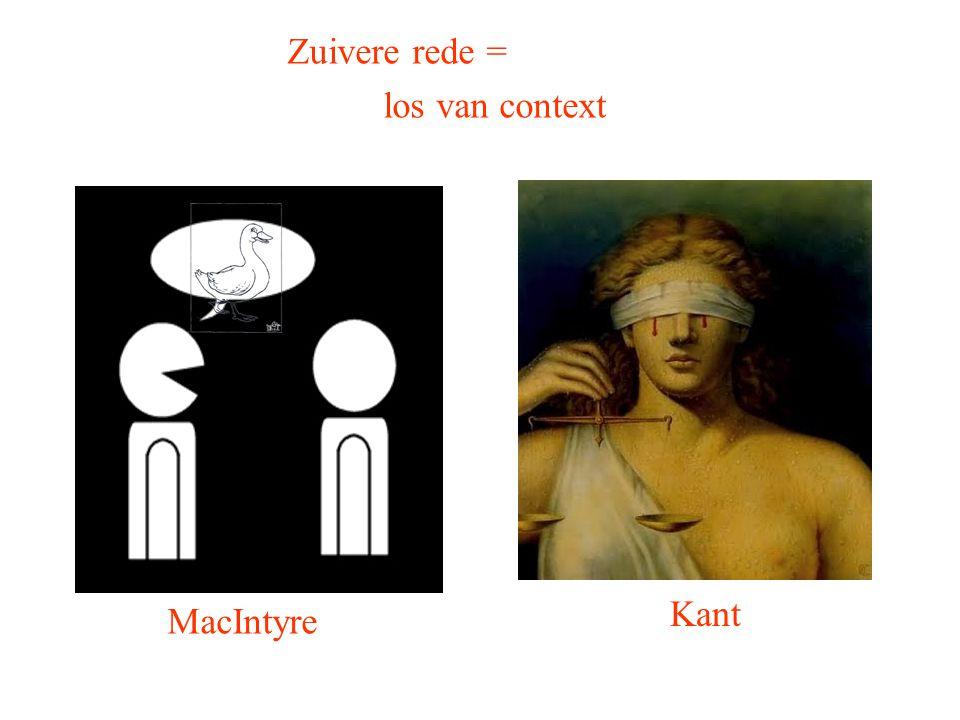 Kant MacIntyre Zuivere rede = los van context