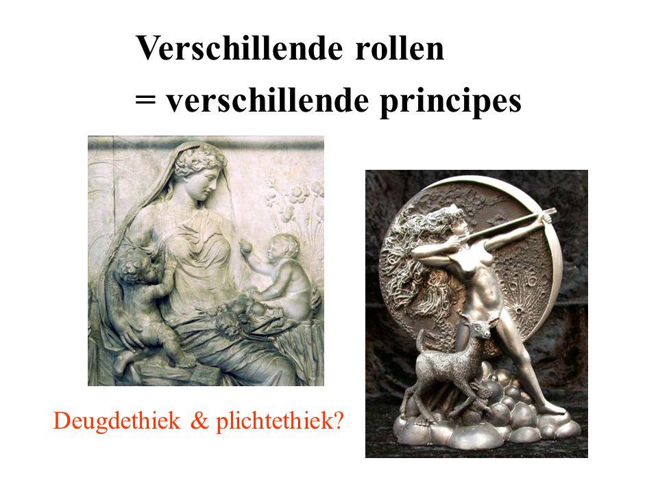 Verschillende rollen = verschillende principes Deugdethiek & plichtethiek?