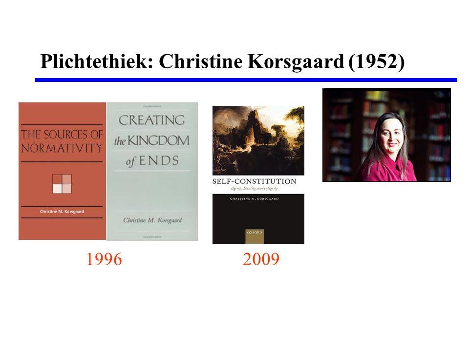Plichtethiek: Christine Korsgaard (1952) 19962009