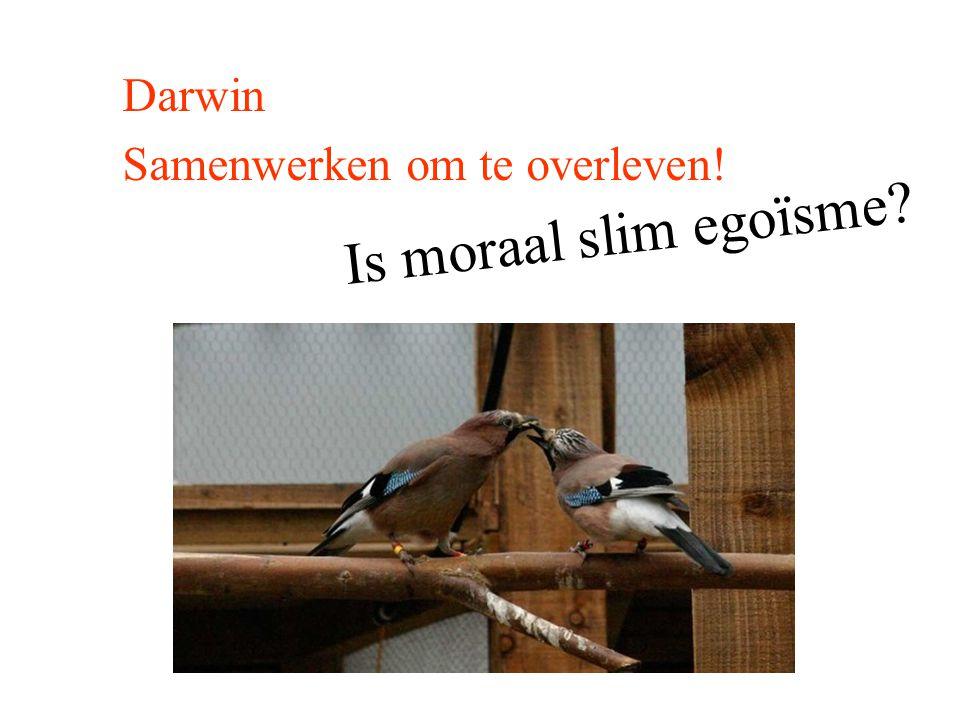 Darwin Samenwerken om te overleven! Is moraal slim egoïsme?