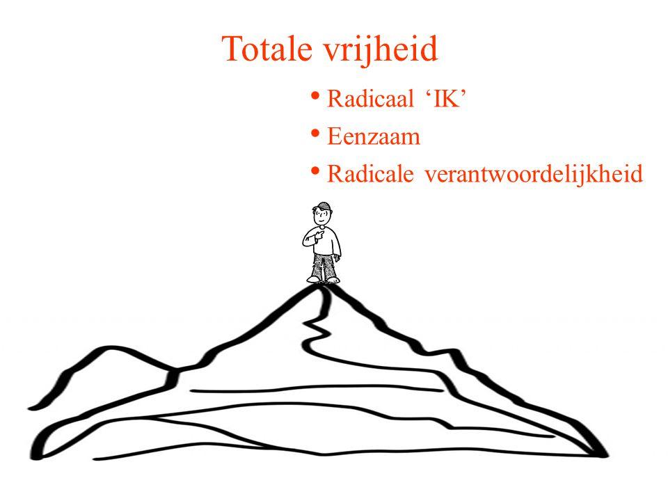 Radicaal 'IK' Eenzaam Radicale verantwoordelijkheid