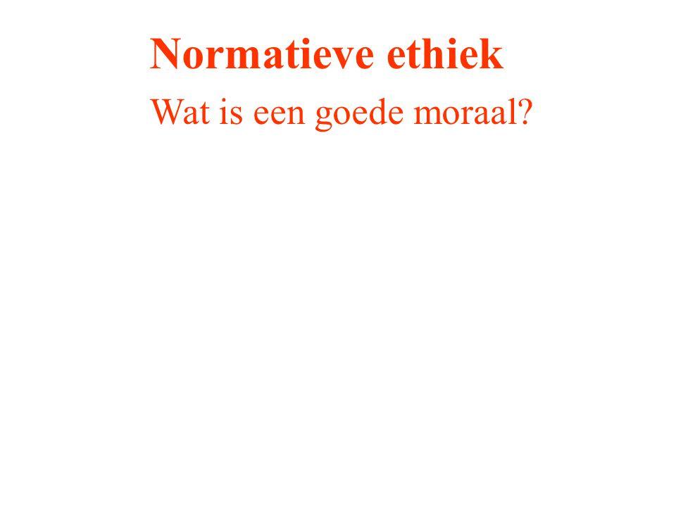 Normatieve ethiek Wat is een goede moraal?