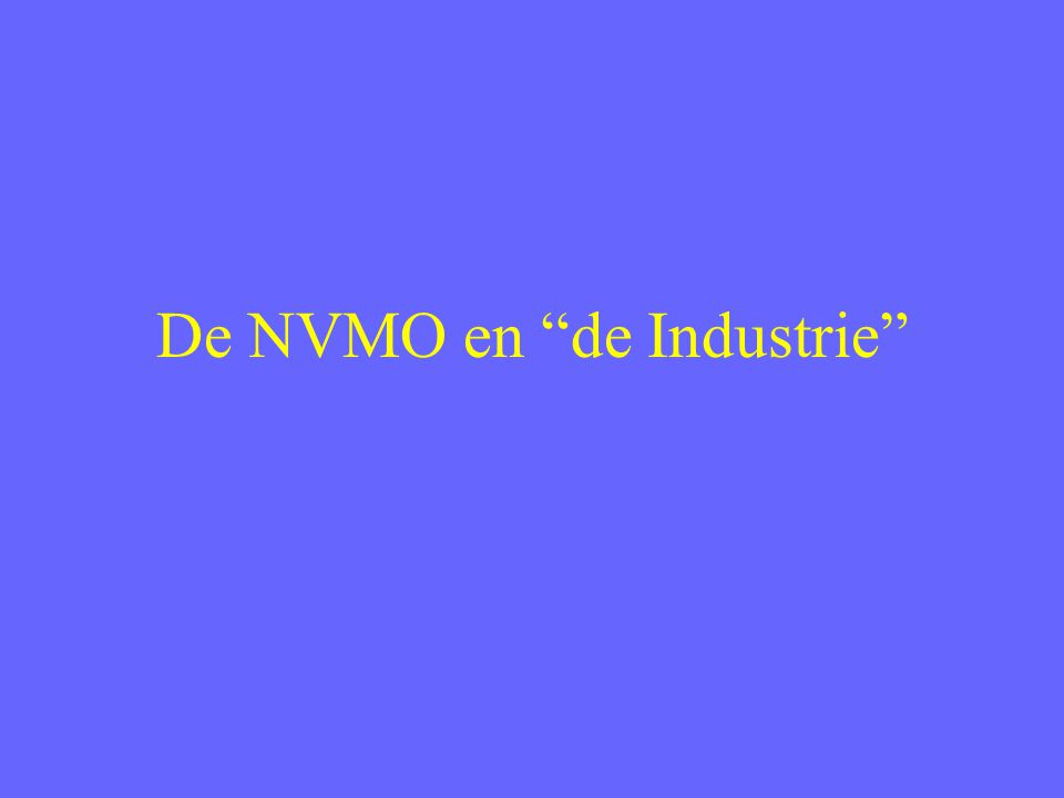 De NVMO en de Industrie