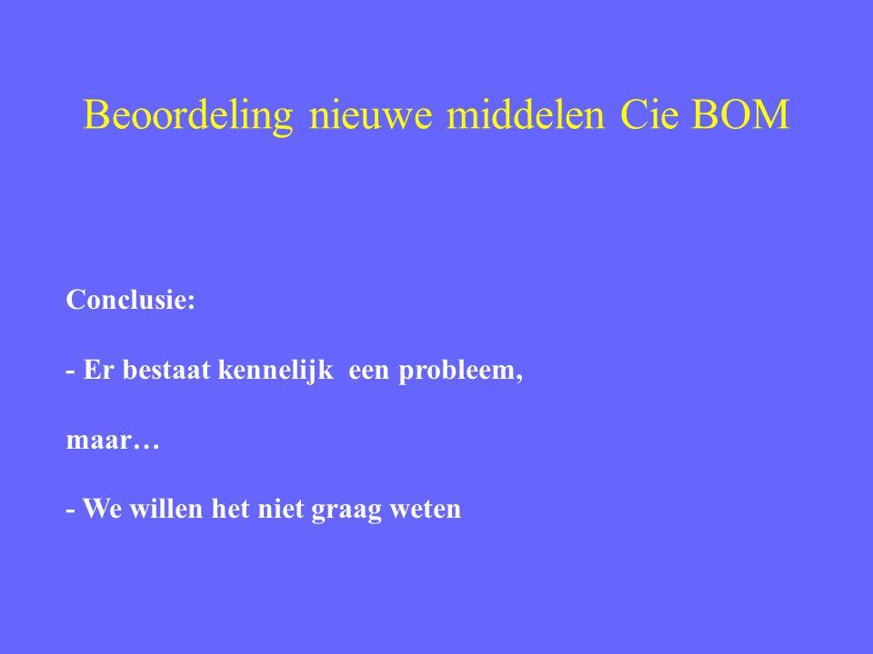 Beoordeling nieuwe middelen Cie BOM Hoe brengen we dit probleem beter onder de aandacht.