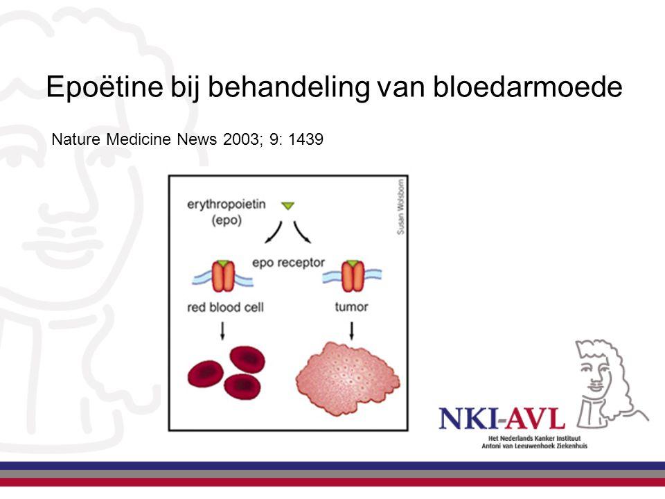 Epoëtine bij behandeling van bloedarmoede Nature Medicine News 2003; 9: 1439