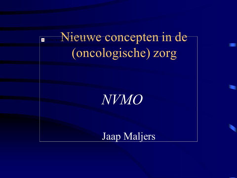Nieuwe concepten in de (oncologische) zorg Jaap Maljers NVMO