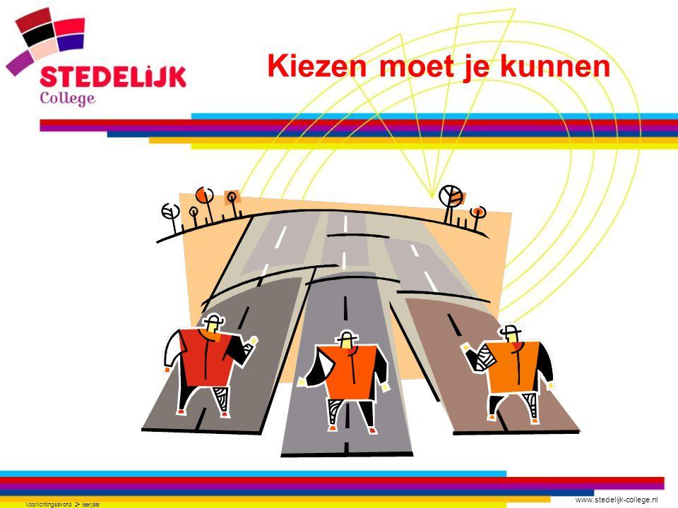 www.stedelijk-college.nl Voorlichtingsavond 2 e leerjaar VMBO afmaken Vervolgopleiding kiezen Vooruit denken…………………… moeilijk .