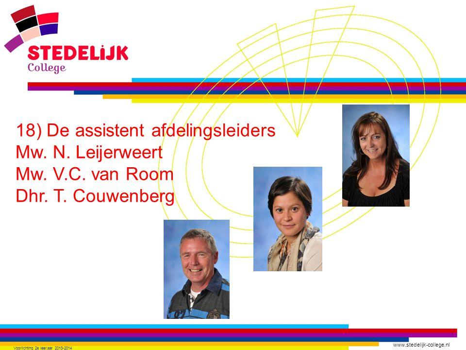 www.stedelijk-college.nl 18) De assistent afdelingsleiders Mw.