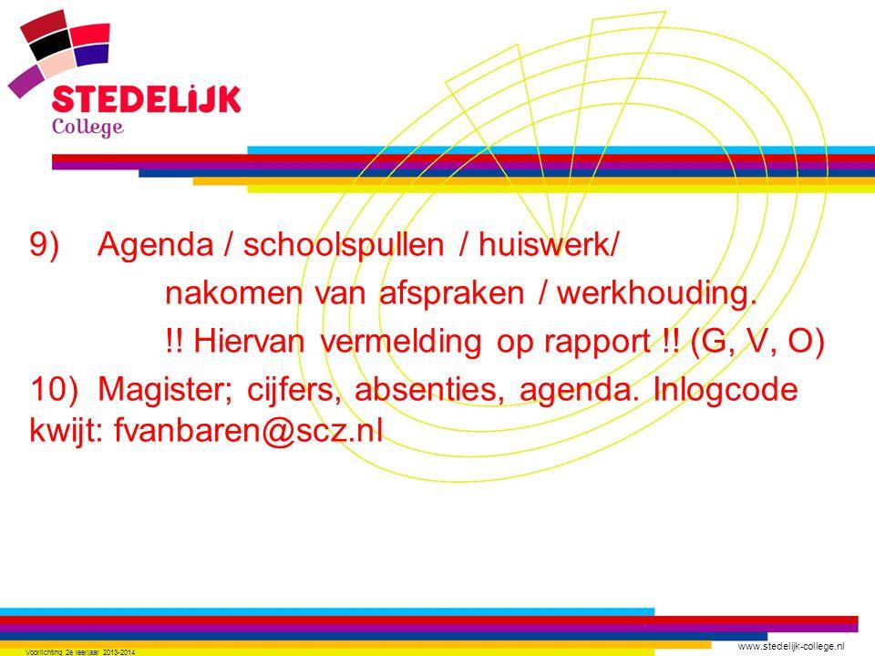 www.stedelijk-college.nl 11) Proefwerk gemist.