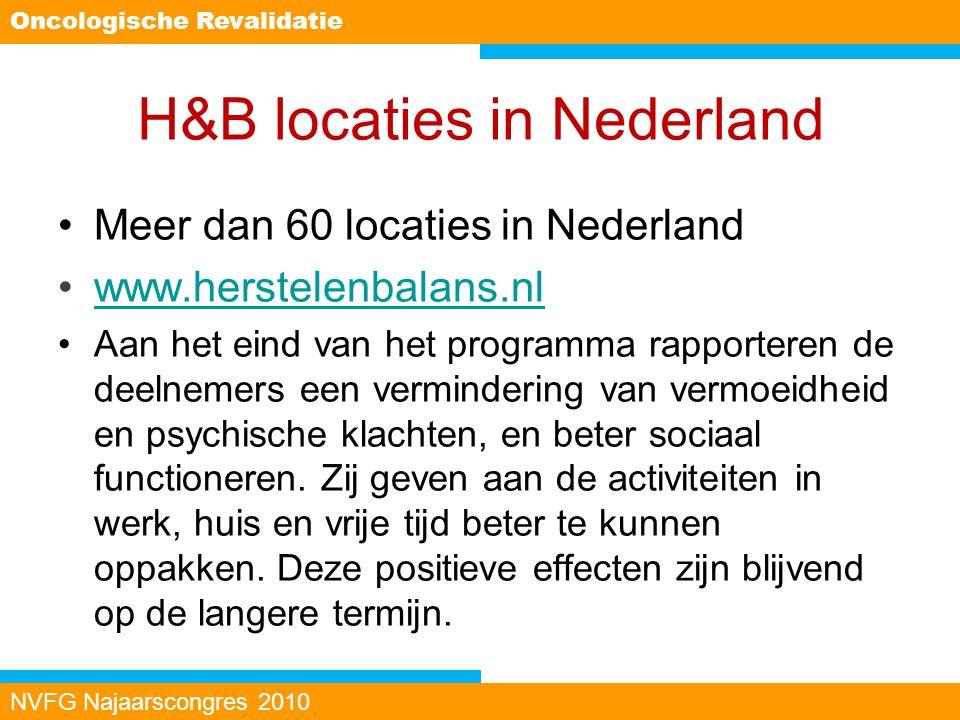 H&B locaties in Nederland Meer dan 60 locaties in Nederland www.herstelenbalans.nl Aan het eind van het programma rapporteren de deelnemers een vermin