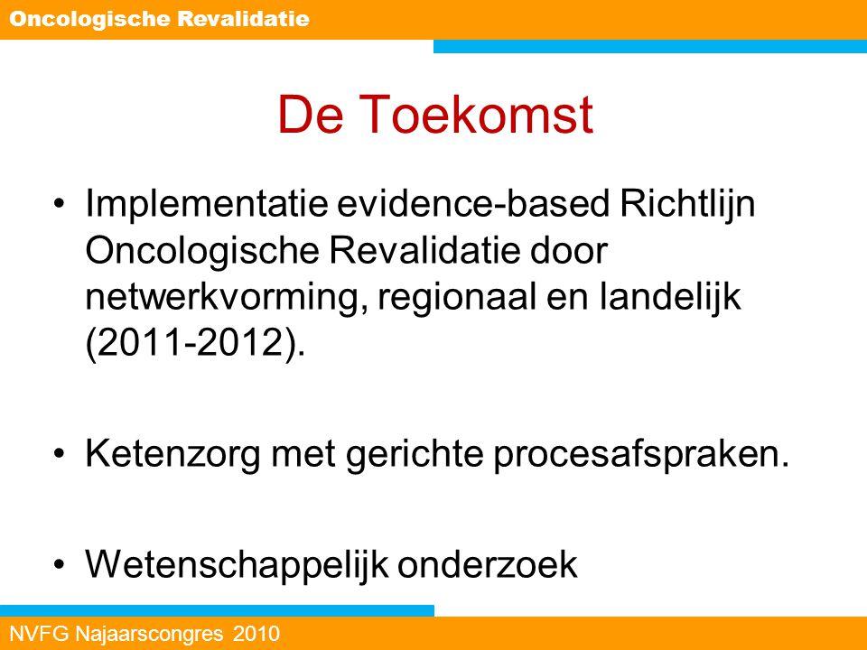 De Toekomst Implementatie evidence-based Richtlijn Oncologische Revalidatie door netwerkvorming, regionaal en landelijk (2011-2012). Ketenzorg met ger