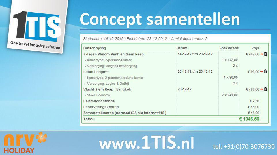 Concept samentellen www. 1TIS.nl www. 1TIS.nl tel: +31(0)70 3076730