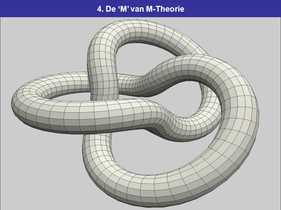 109 4. De 'M' van M-Theorie