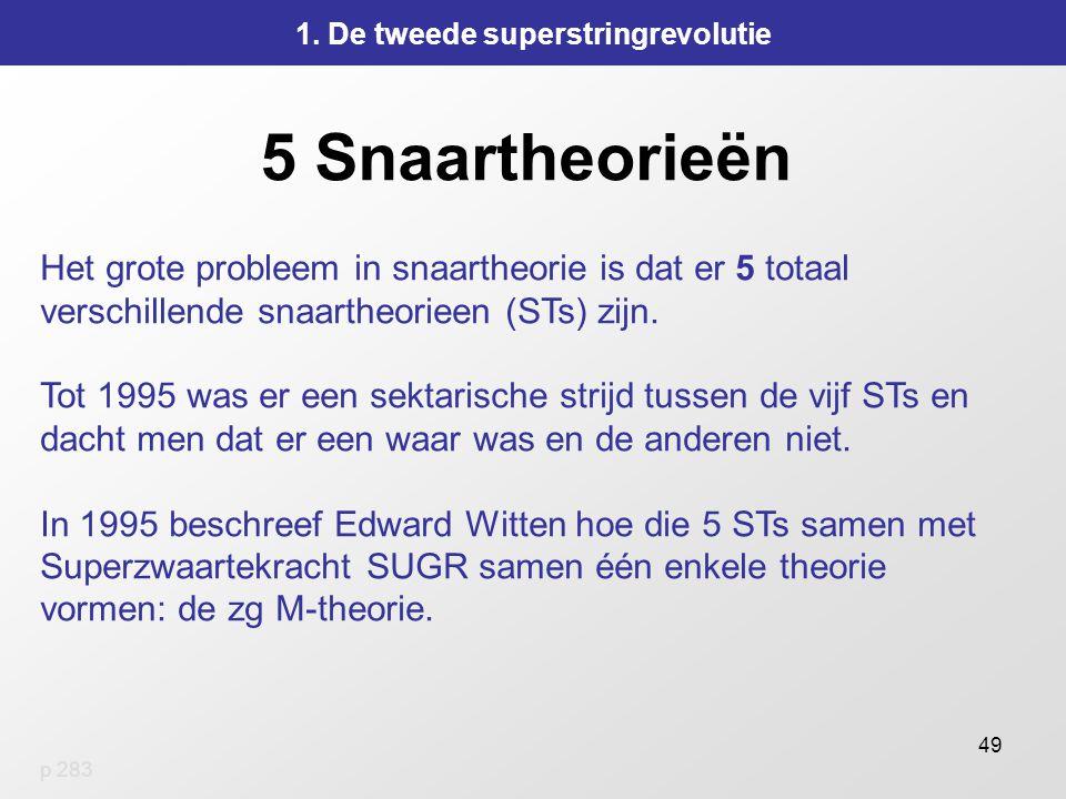 49 5 Snaartheorieën 1.