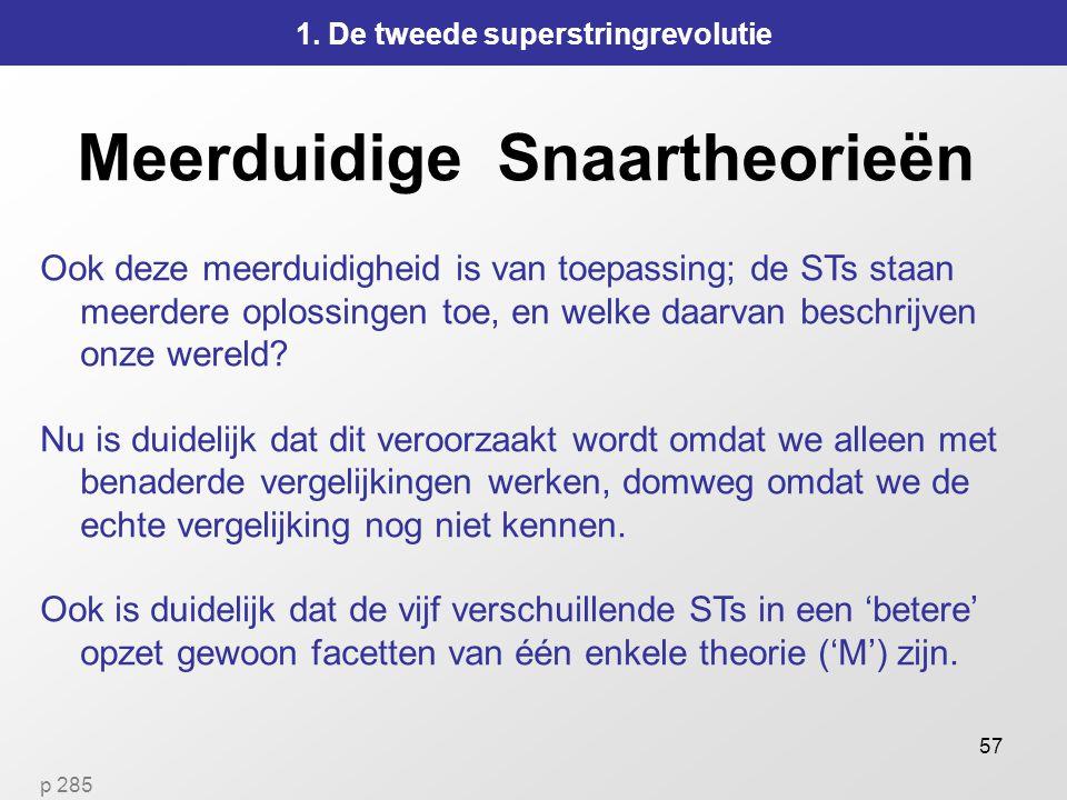 57 Meerduidige Snaartheorieën 1.
