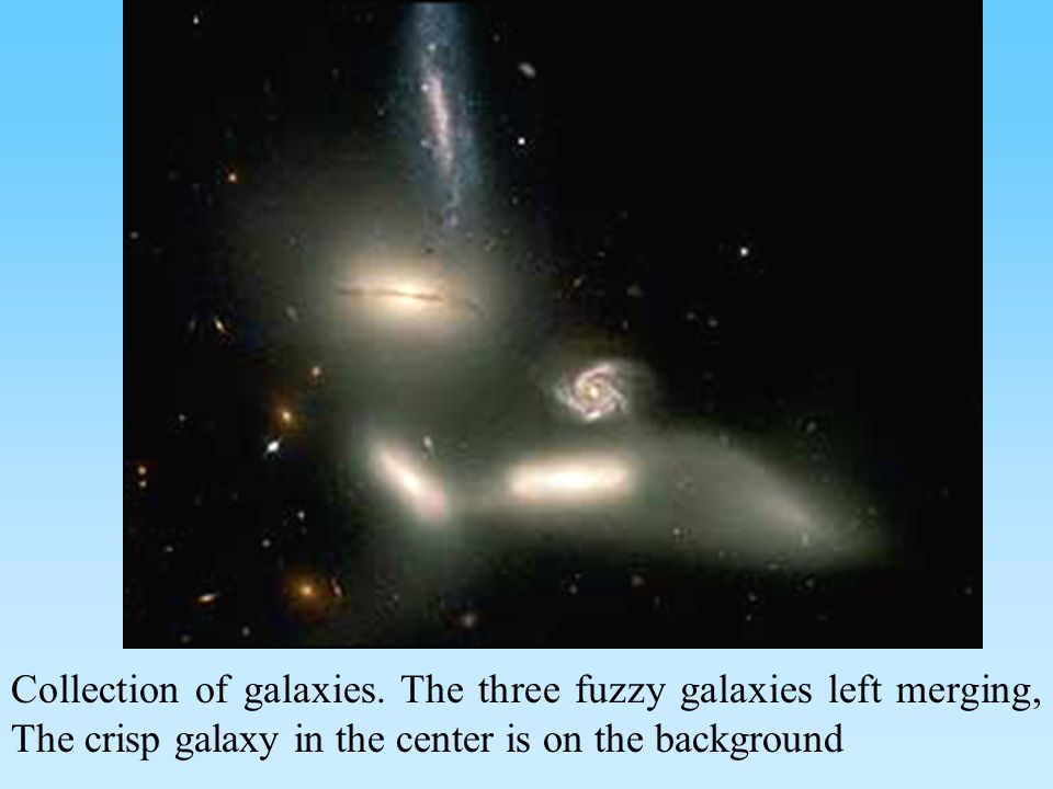 Collection of galaxies.