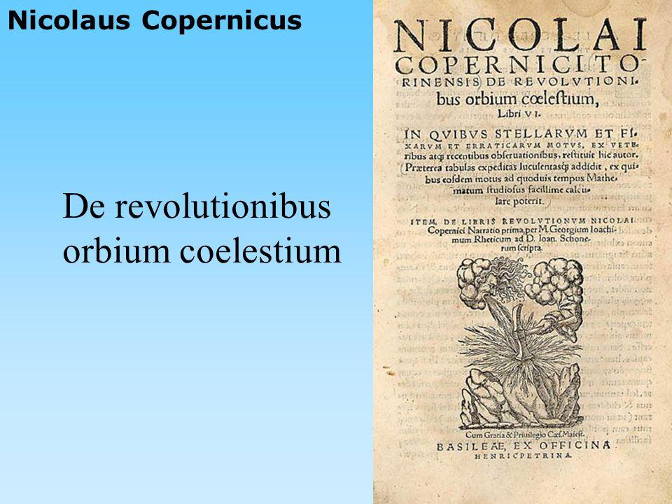 Nicolaus Copernicus De revolutionibus orbium coelestium