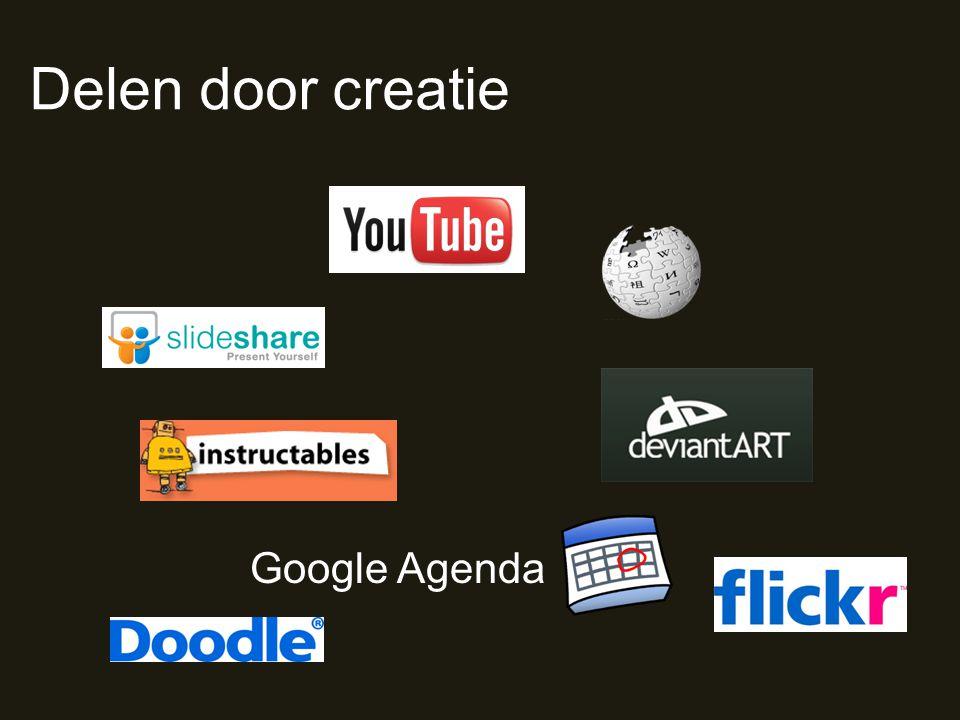 Delen door creatie Google Agenda