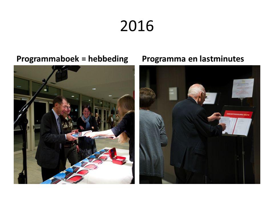 2016 Programmaboek = hebbedingProgramma en lastminutes