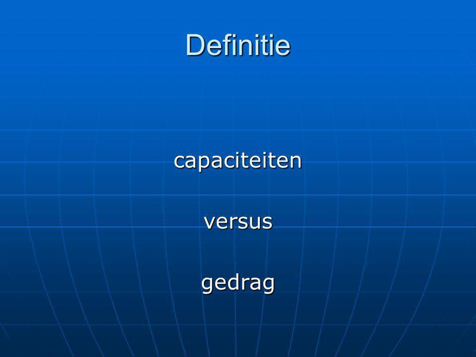 Definitie capaciteitenversusgedrag