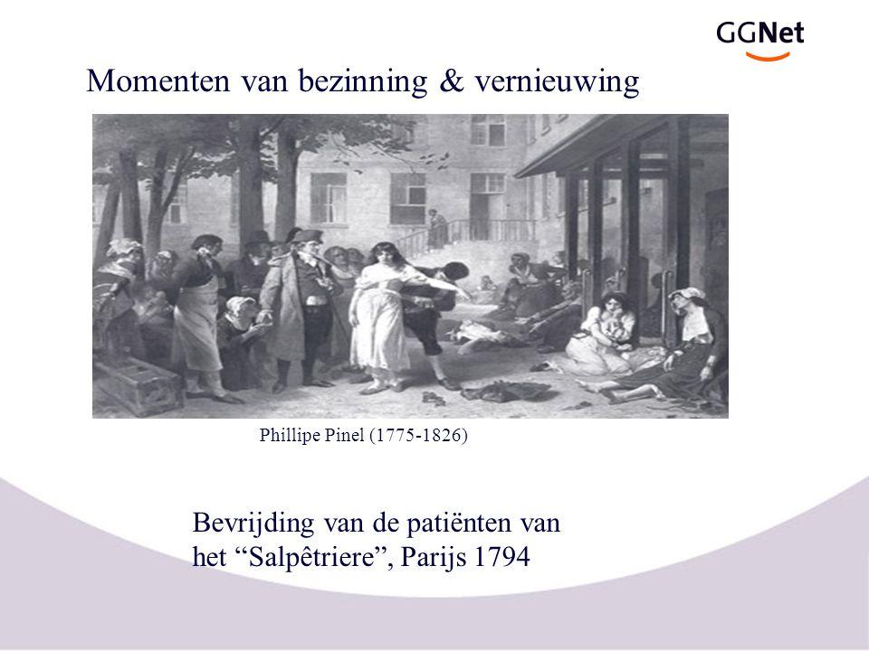 """Bevrijding van de patiënten van het """"Salpêtriere"""", Parijs 1794 Phillipe Pinel (1775-1826) Momenten van bezinning & vernieuwing"""