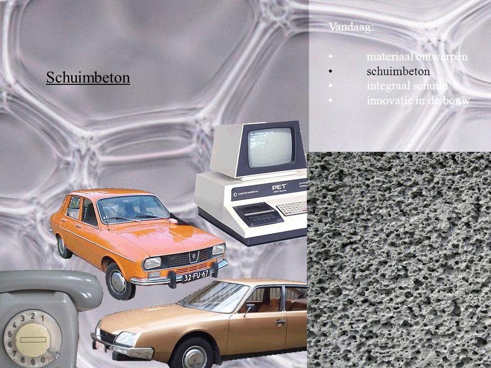 Schuimbeton Vandaag: materiaal ontwerpen schuimbeton integraal schuim innovatie in de bouw