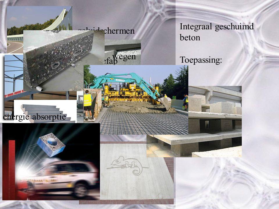 Integraal geschuimd beton Toepassing: geluidschermen prefab Poeren en elementen wegen energie absorptie
