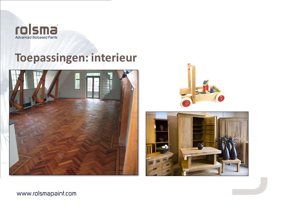 Toepassingen: interieur