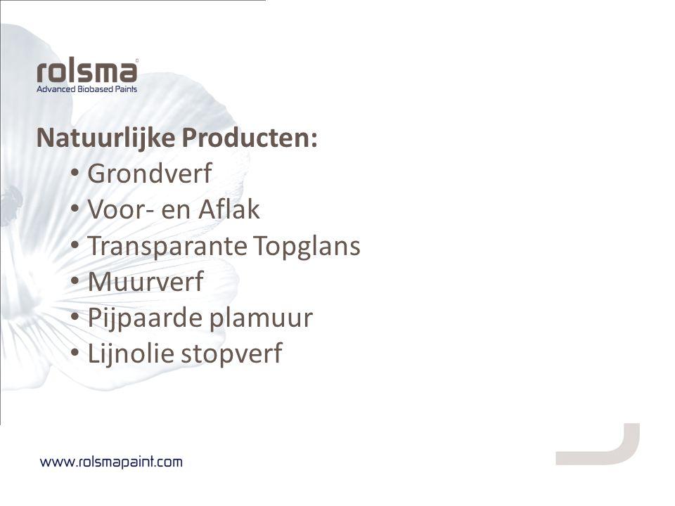 Natuurlijke Producten: Grondverf Voor- en Aflak Transparante Topglans Muurverf Pijpaarde plamuur Lijnolie stopverf