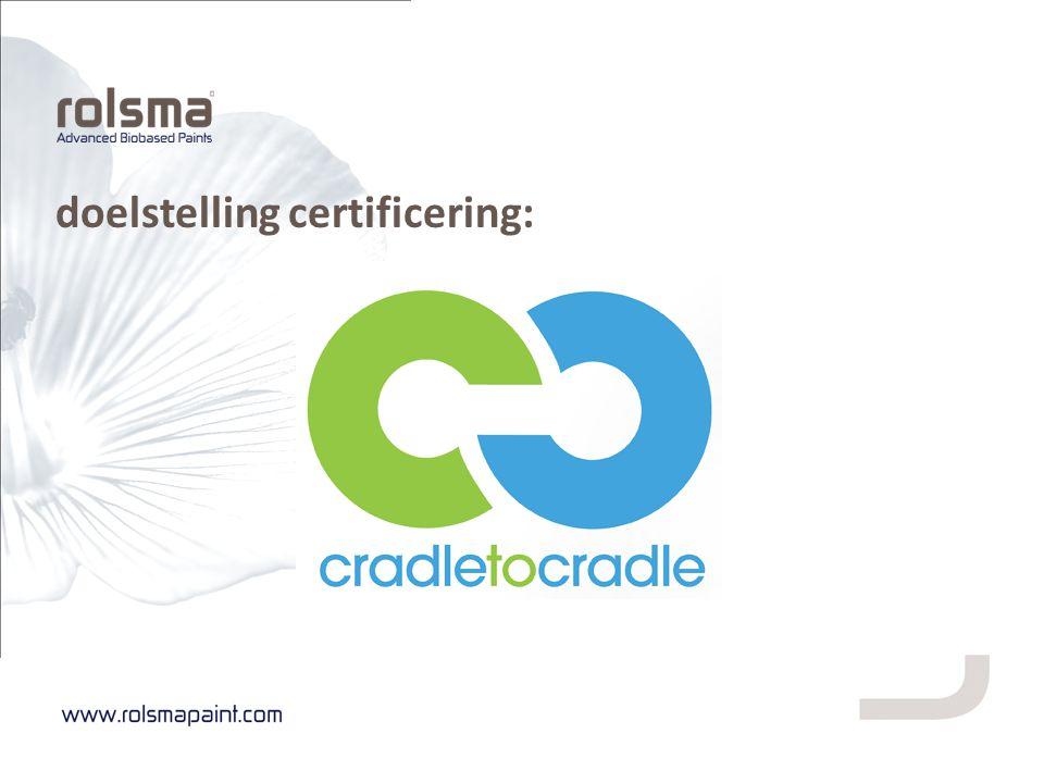 doelstelling certificering: