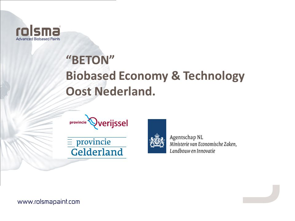 """BETON"" Biobased Economy & Technology Oost Nederland."