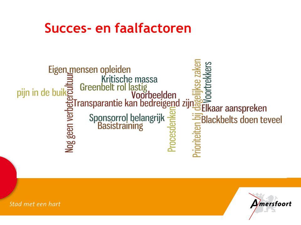 Succes- en faalfactoren
