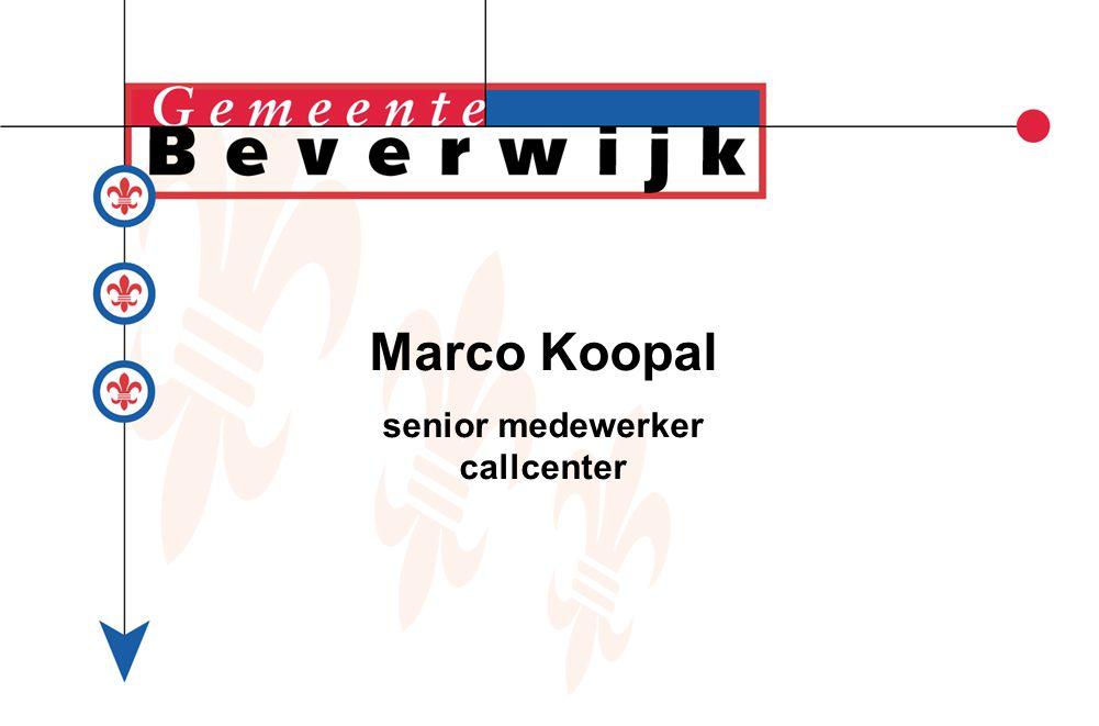 Marco Koopal senior medewerker callcenter