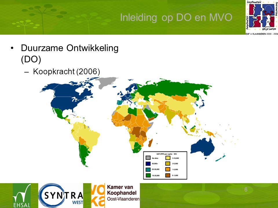 6 Inleiding op DO en MVO Duurzame Ontwikkeling (DO) –Koopkracht (2006)
