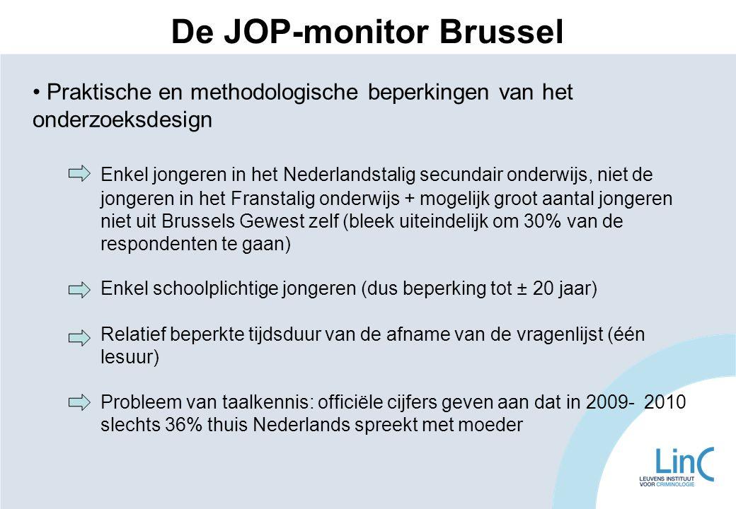 Praktische en methodologische beperkingen van het onderzoeksdesign Enkel jongeren in het Nederlandstalig secundair onderwijs, niet de jongeren in het