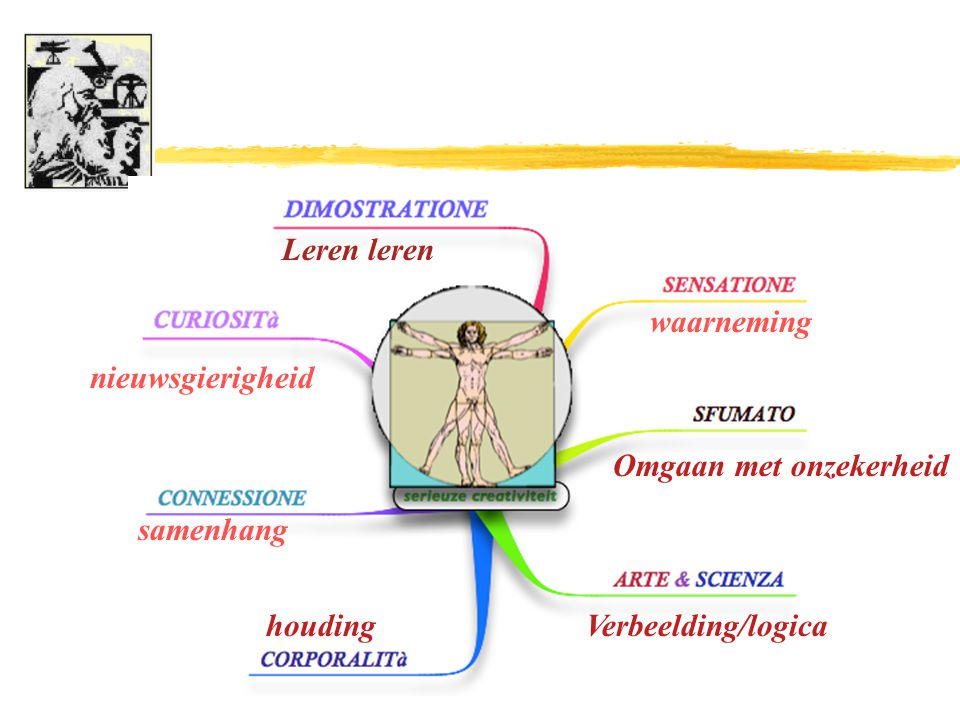 Leren leren nieuwsgierigheid waarneming Omgaan met onzekerheid Verbeelding/logicahouding samenhang