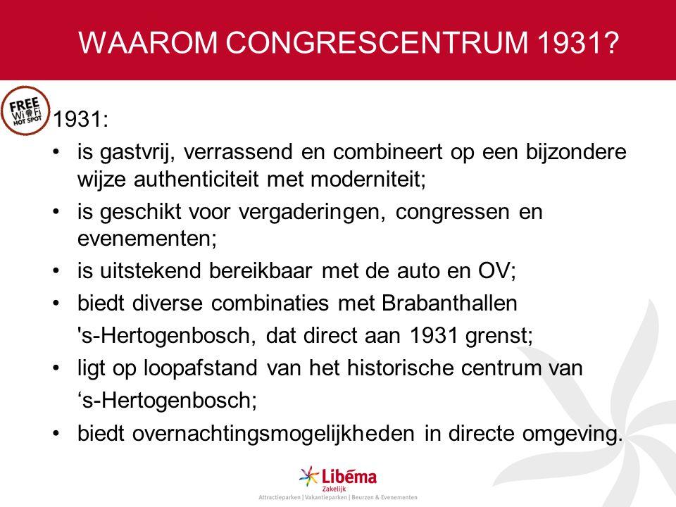 WAAROM CONGRESCENTRUM 1931.