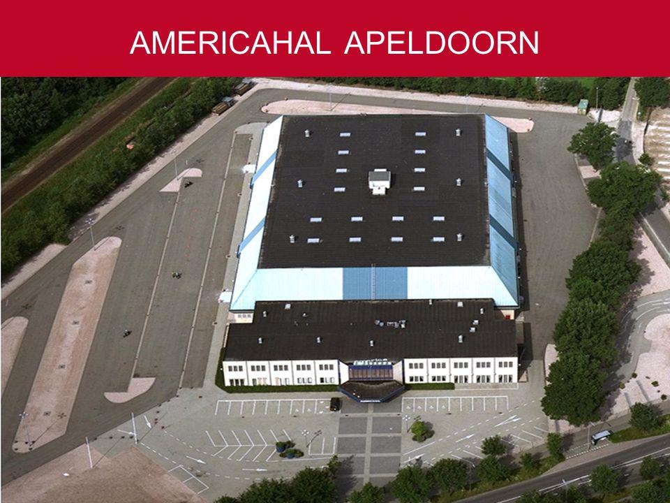 50 tot 10.000 gasten Ruim 4.000 parkeerplaatsen Slechts één uur rijden vanaf Amsterdam, Rotterdam en Antwerpen AMERICAHAL APELDOORN