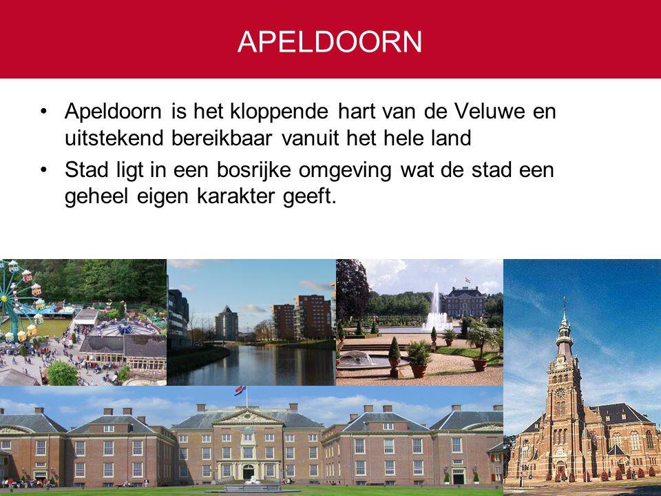 Apeldoorn is het kloppende hart van de Veluwe en uitstekend bereikbaar vanuit het hele land Stad ligt in een bosrijke omgeving wat de stad een geheel