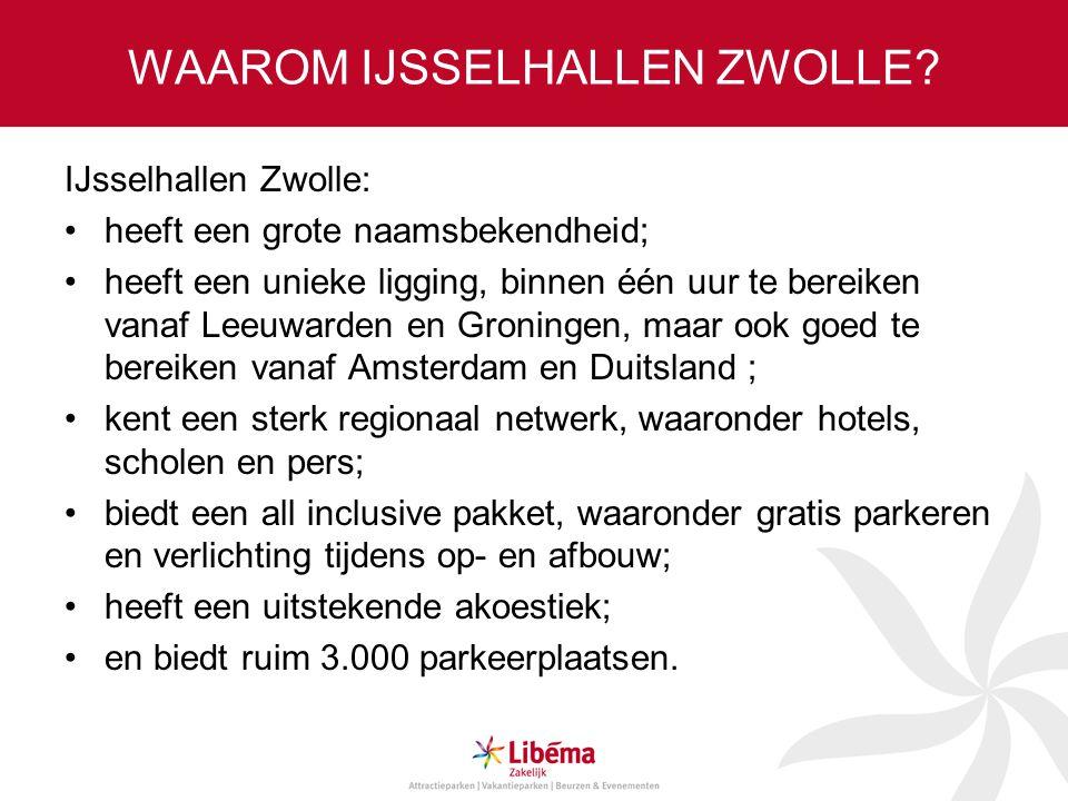 WAAROM IJSSELHALLEN ZWOLLE? IJsselhallen Zwolle: heeft een grote naamsbekendheid; heeft een unieke ligging, binnen één uur te bereiken vanaf Leeuwarde