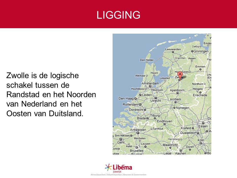 LIGGING Zwolle is de logische schakel tussen de Randstad en het Noorden van Nederland en het Oosten van Duitsland.