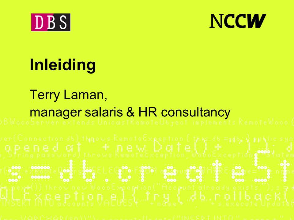 Inleiding Terry Laman, manager salaris & HR consultancy