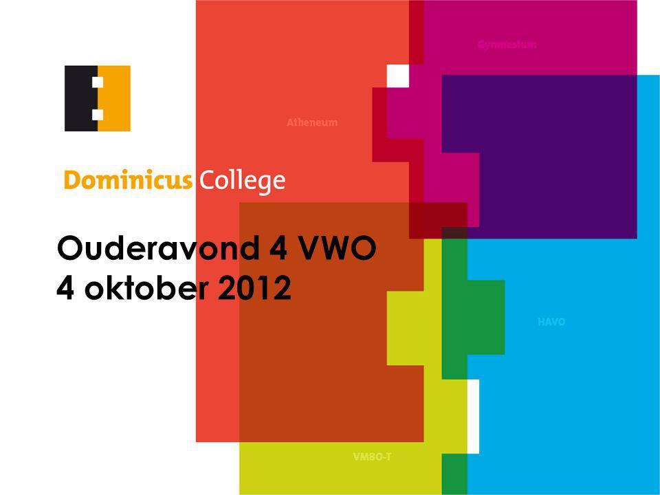 Ouderavond 4 VWO 4 oktober 2012