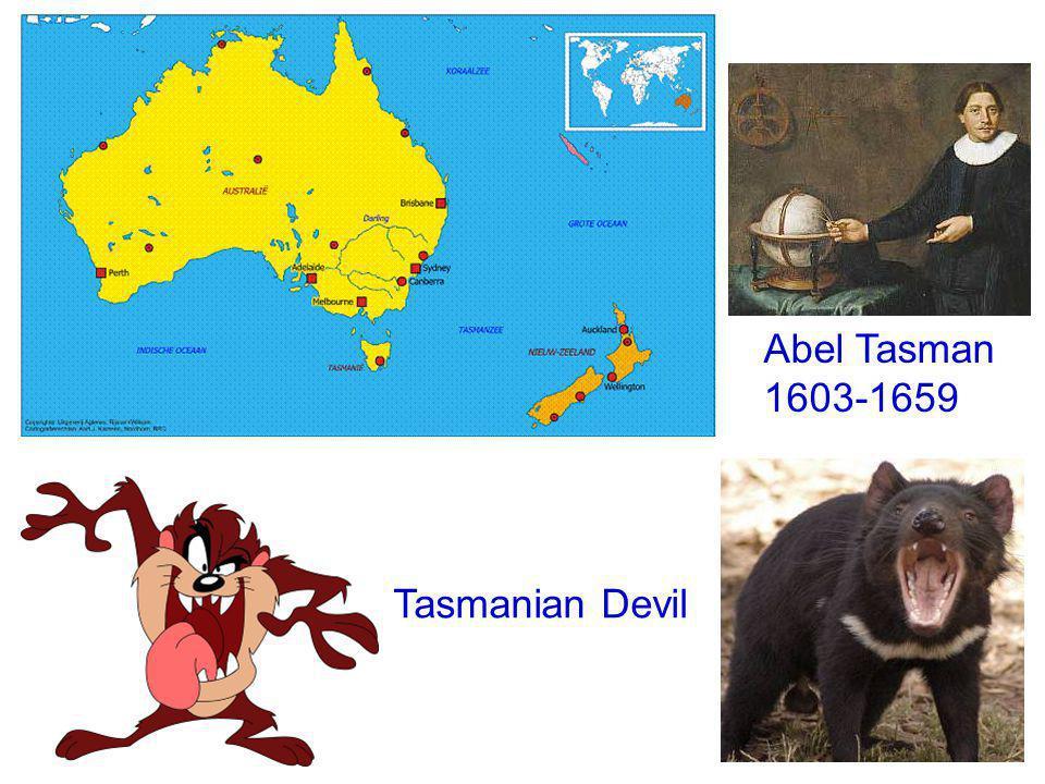 Abel Tasman 1603-1659 Tasmanian Devil