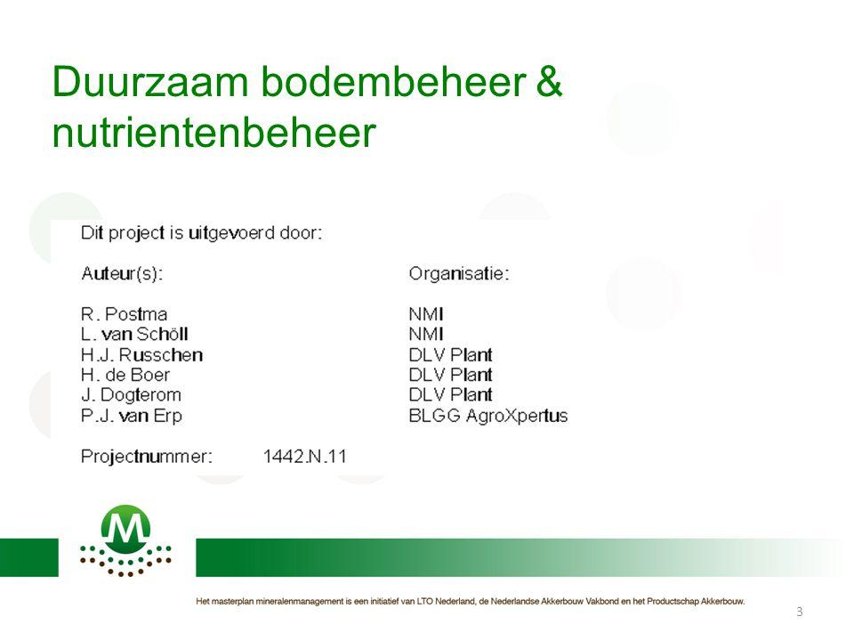 Duurzaam bodembeheer & nutrientenbeheer 3
